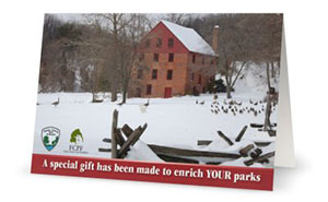 Colvin Run Mill card cover.