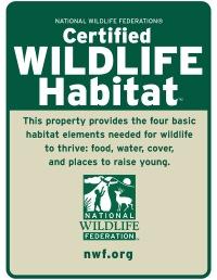 Certified Wildlife Habitat logo.