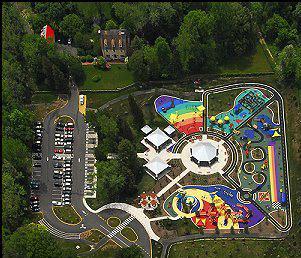 Aerial shot of Clemyjontri Park.
