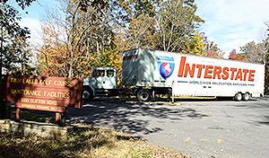 Interstate moving van.