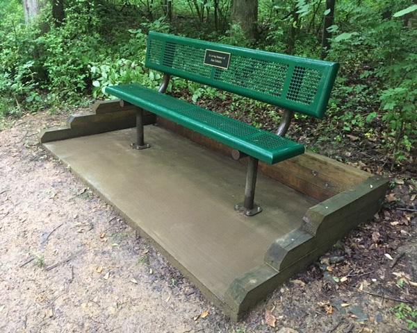 A standard bench.