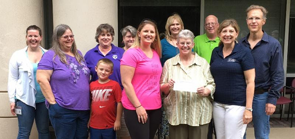 Fairfax Adult Softball check to Fairfax County Park Foundation.