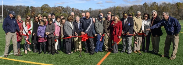 The Lt. Col. Smith Field ribbon cutting.