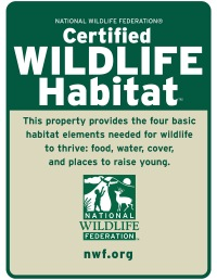 Certified Wildlife Habitat logo.