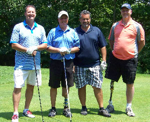 Golf winners foursome.