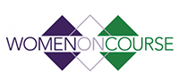 Women On Course logo.