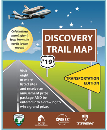 Cover of the Discovery Trail Map.