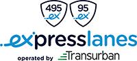 Express Lanes Operated by Transurban logo.