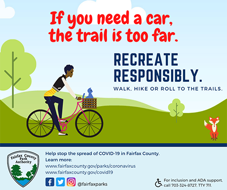 Recreate responsibly with person riding a bike.