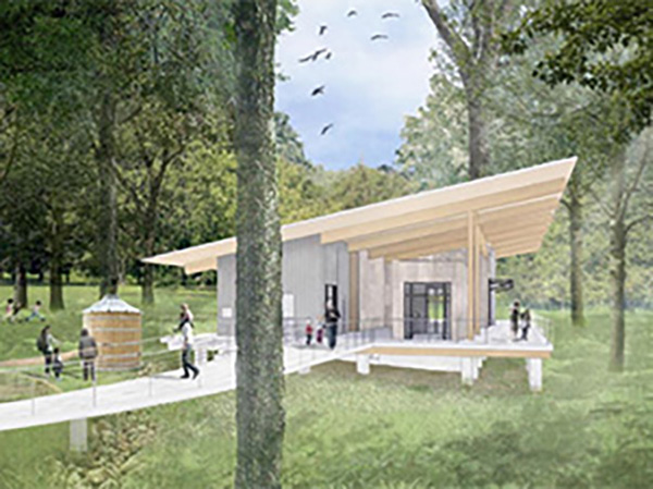 Rendering of Sully Woodlands Education Center..