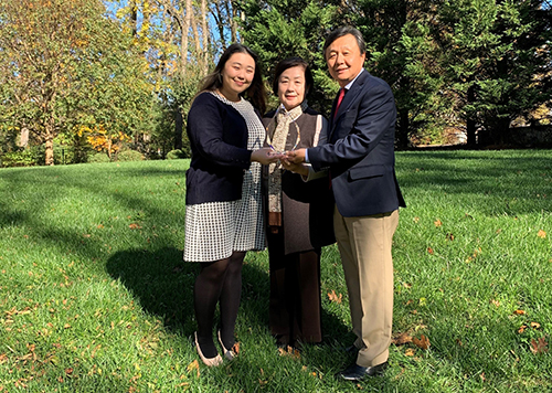 Eakin Award 2020 Hwang Family.
