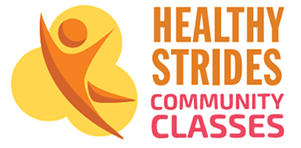 Healthy Strides Community Classes graphic image.