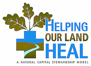 Helping Our Land Heal logo.